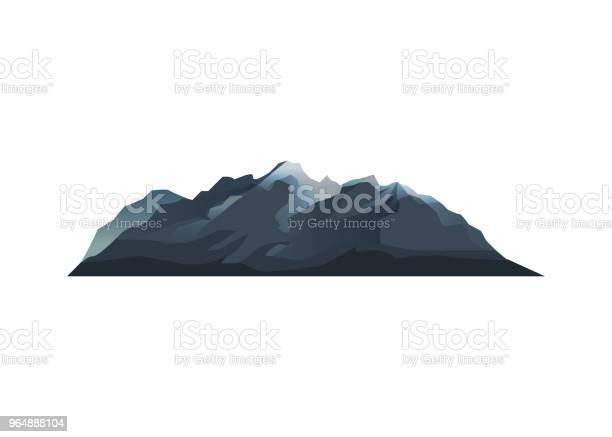 山脈孤立向量圖示向量圖形及更多上衣圖片
