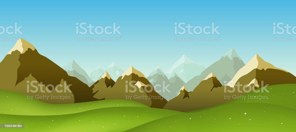 Mountain Range royalty-free stock vector art