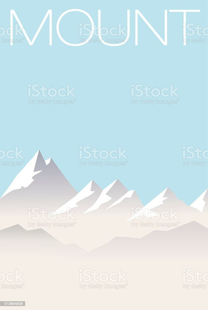 Mountain Range vector art illustration