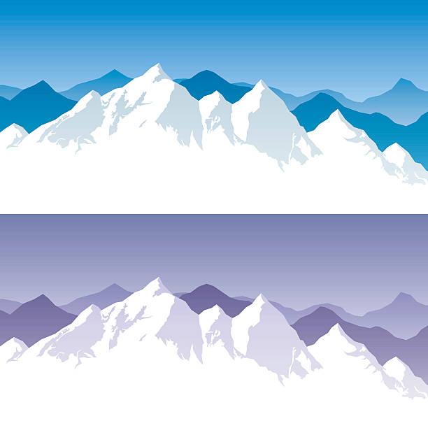 bildbanksillustrationer, clip art samt tecknat material och ikoner med mountain range - snötäckt