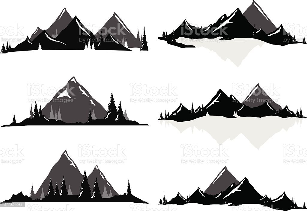 Mountain ranges and scenic scenes stock vector art 522894081 istock mountain ranges and scenic scenes royalty free stock vector art sciox Gallery