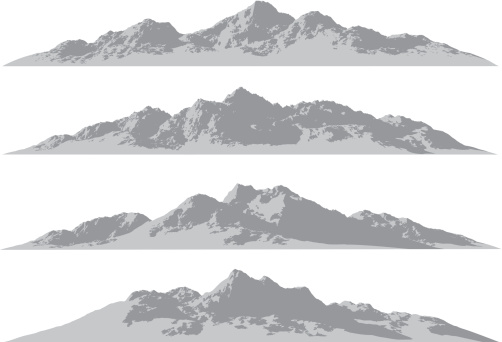Mountain Ranges Stock Illustration - Download Image Now