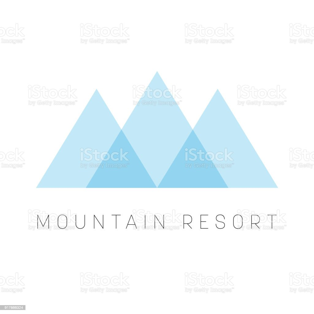Mountain Resort Template Blue Triangle Shape Type For Business Or