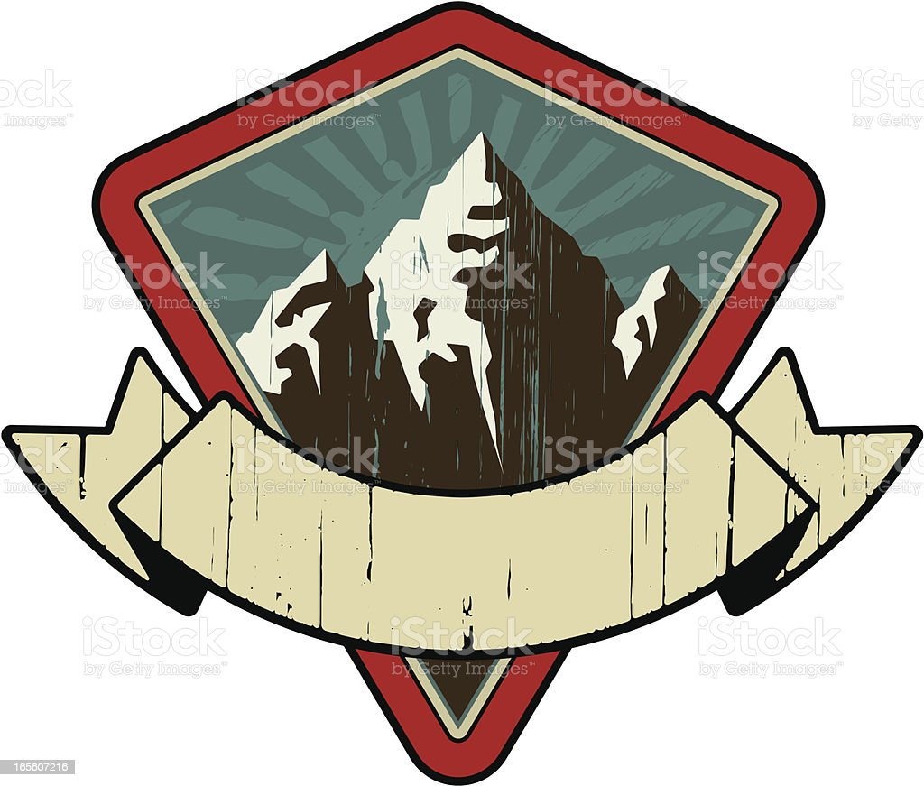 mountain retro emblem royalty-free mountain retro emblem stock vector art & more images of banner - sign