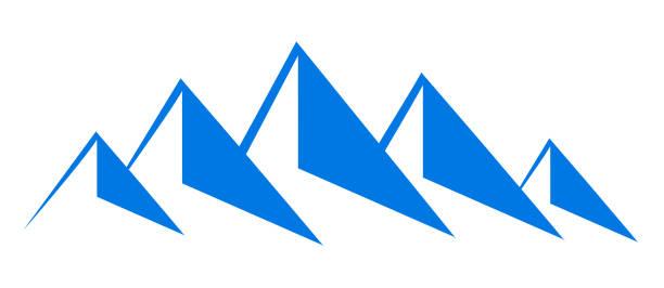 illustrazioni stock, clip art, cartoni animati e icone di tendenza di mountain ridge with five peaks - stock vector - monte bianco