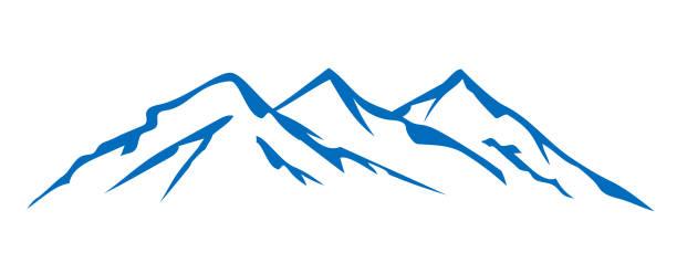 illustrazioni stock, clip art, cartoni animati e icone di tendenza di mountain ridge with many peaks - for stock - monte bianco