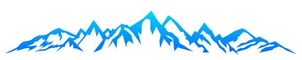illustrazioni stock, clip art, cartoni animati e icone di tendenza di mountain ridge with many peaks - stock vector - monte bianco