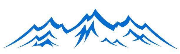 illustrazioni stock, clip art, cartoni animati e icone di tendenza di mountain ridge with many peaks - vector - monte bianco