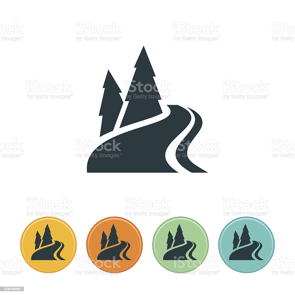Mountain River-Symbol – Vektorgrafik