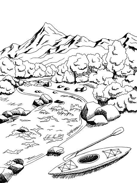 Royalty Free Kayak Drawing Clip Art, Vector Images
