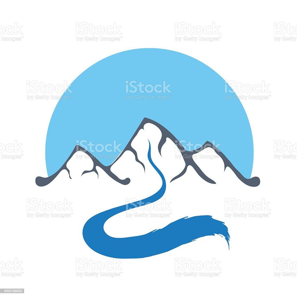 mountain river vector logo illustration stock illustration download image now istock https www istockphoto com vector mountain river vector logo illustration gm533248530 94430413