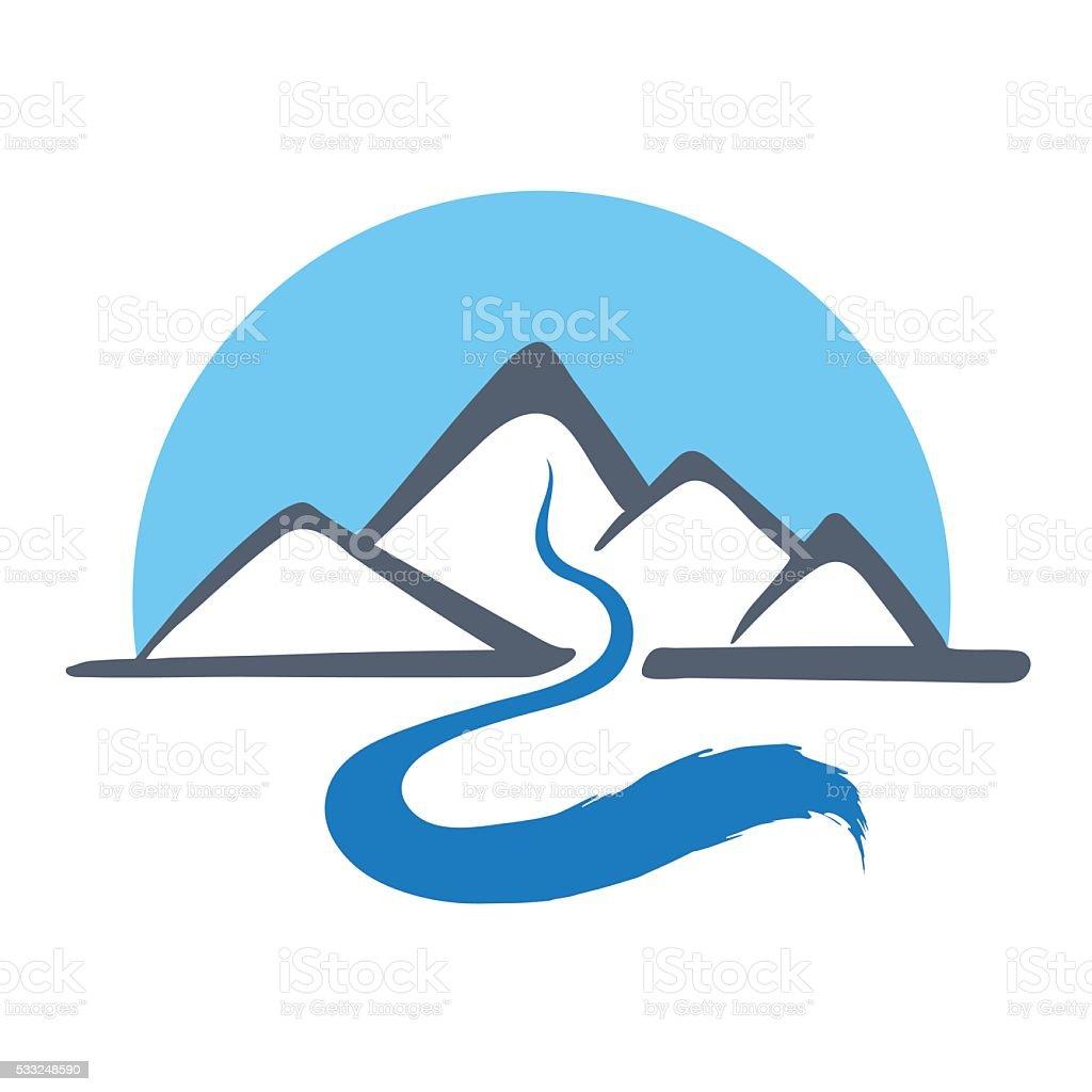 mountain river vector logo illustration stock illustration download image now istock https www istockphoto com vector mountain river vector logo illustration gm533248590 94430473