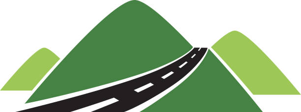 royalty free highway hill clip art vector images illustrations