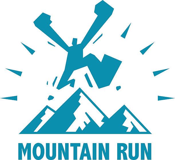 bildbanksillustrationer, clip art samt tecknat material och ikoner med mountain run - jogging hill