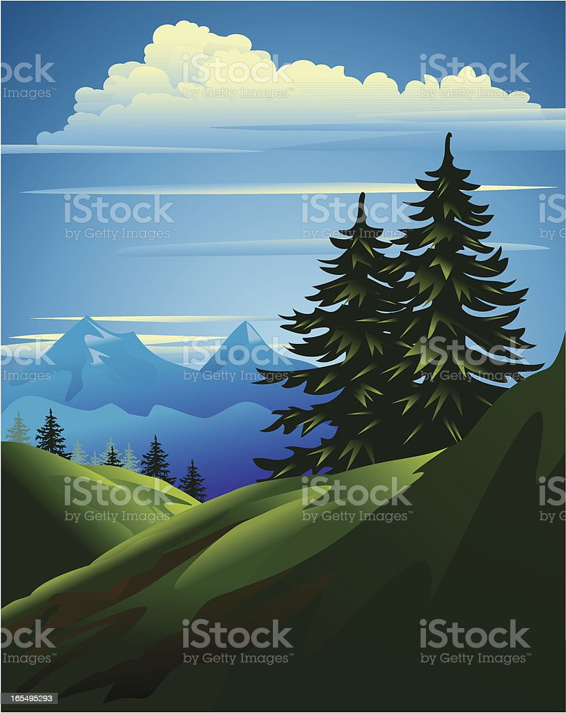 Mountain Scenery royalty-free stock vector art