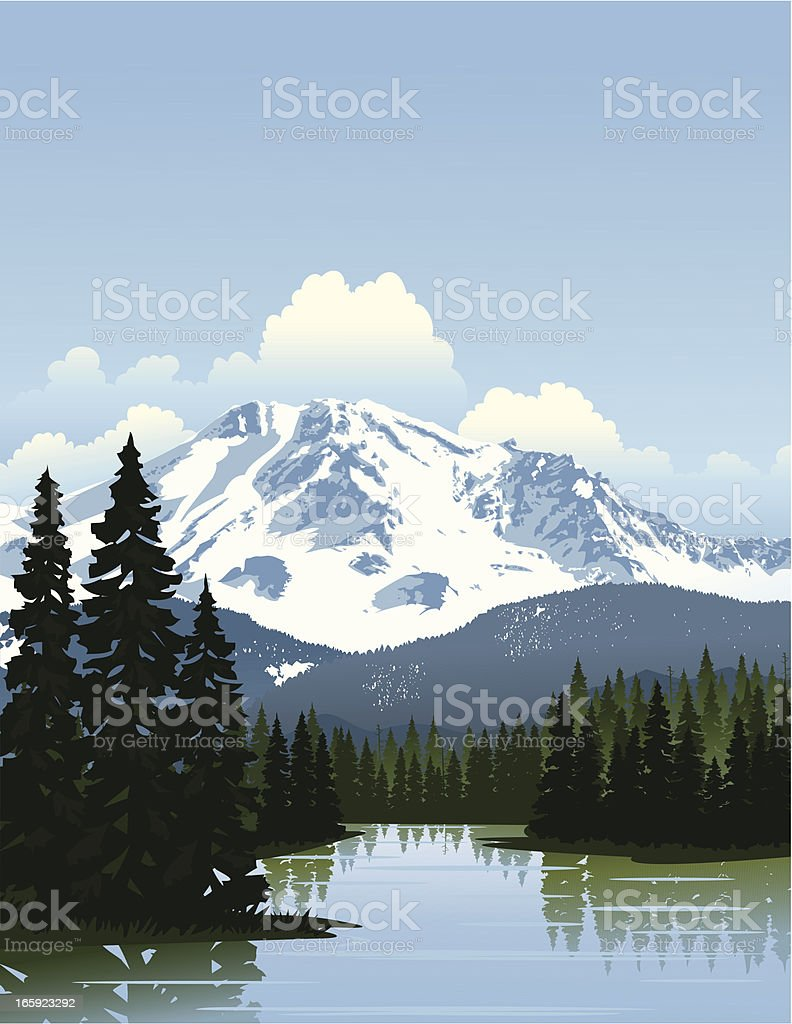 Mountain Scenery royalty-free mountain scenery stock vector art & more images of cloud - sky