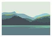 mountain, sea, and coast scenery