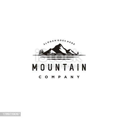 istock Mountain Sea design inspiration stock illustration Mountain, Logo, River, Tree, Hill 1289239097