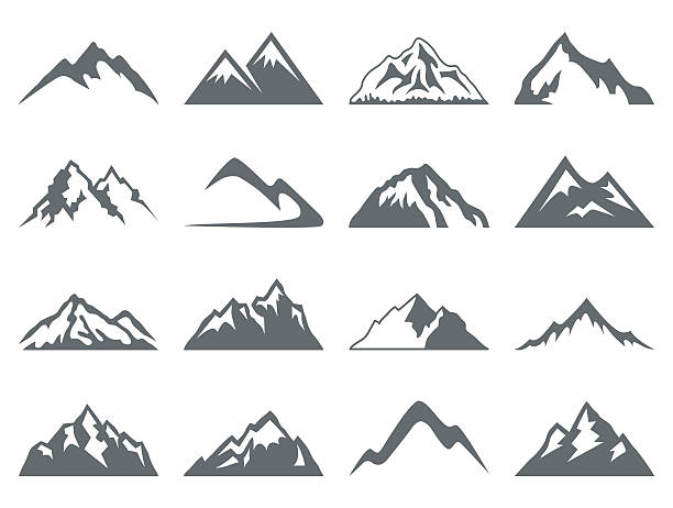 Mountain Shapes For Logos - ilustración de arte vectorial
