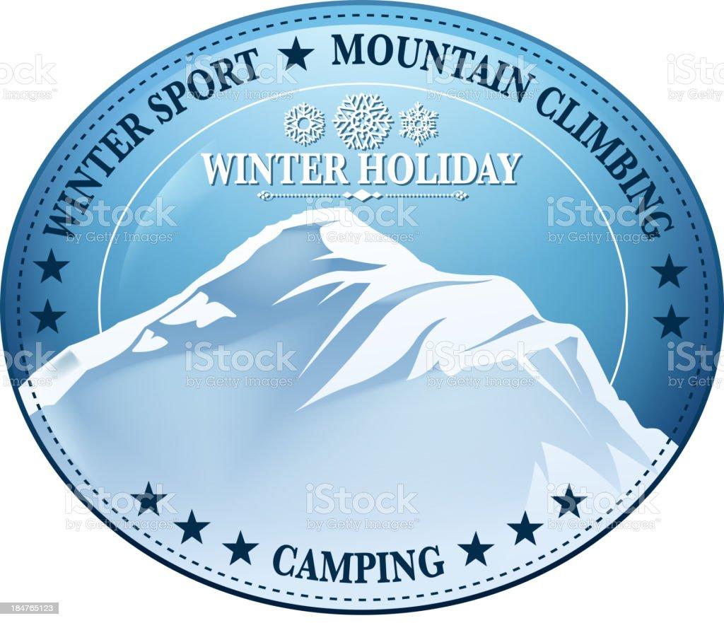 mountain sign vector art illustration