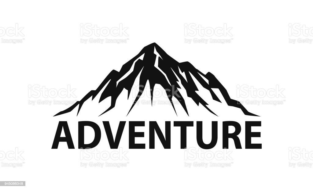 montagne silhouette logo isol u00e9 illustration vectorielle