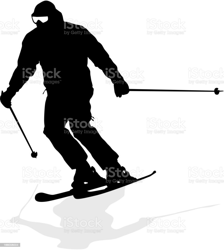 Mountain skier royalty-free mountain skier stock vector art & more images of adult