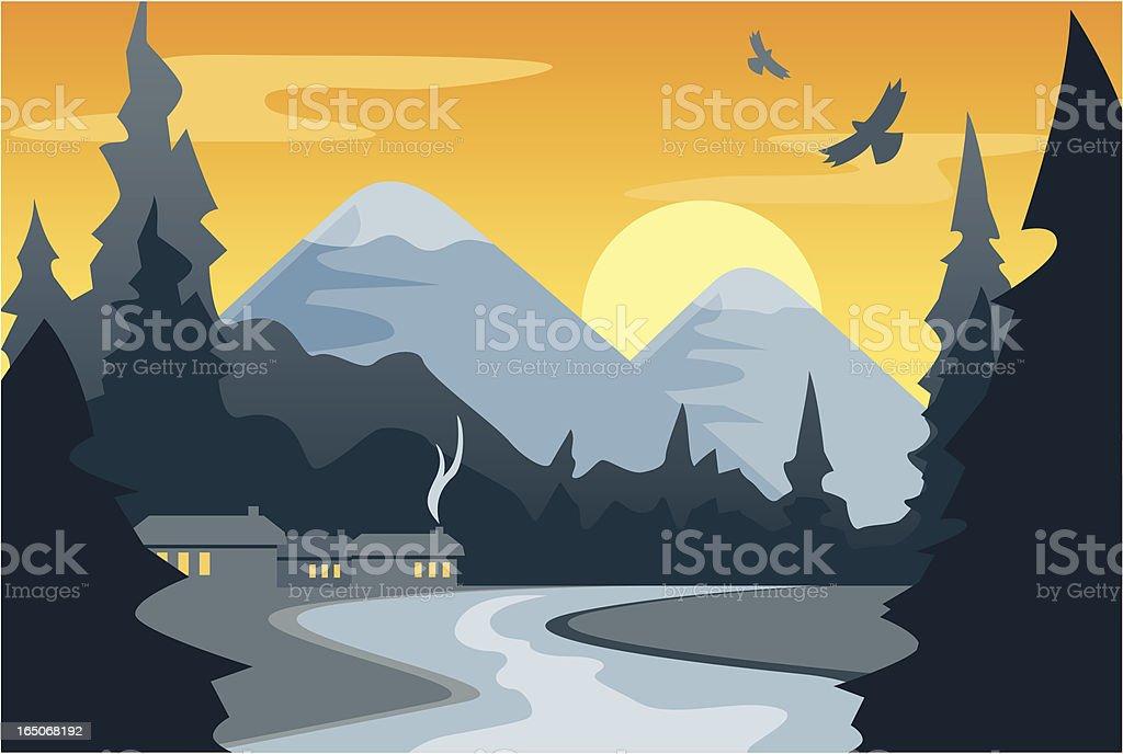 Mountain Stream (Early Morning) royalty-free stock vector art