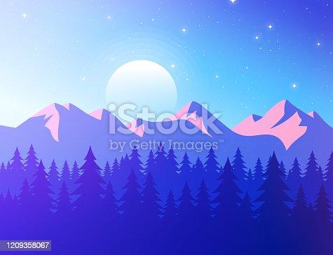 istock Mountain Sunset Landscape 1209358067