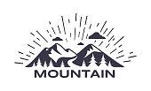 Mountain symbol background illustration.
