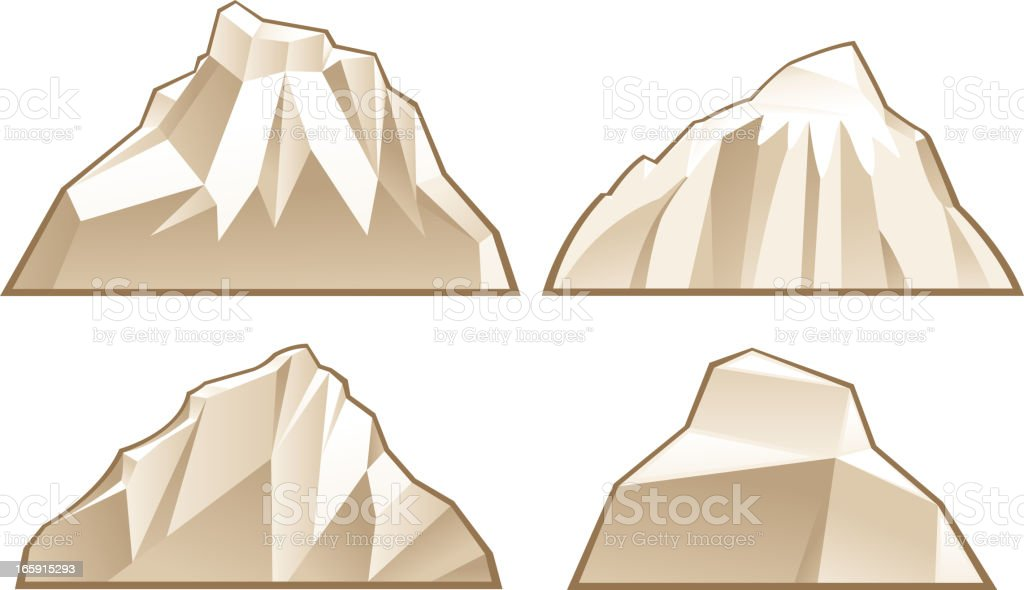 mountain symbols vector art illustration