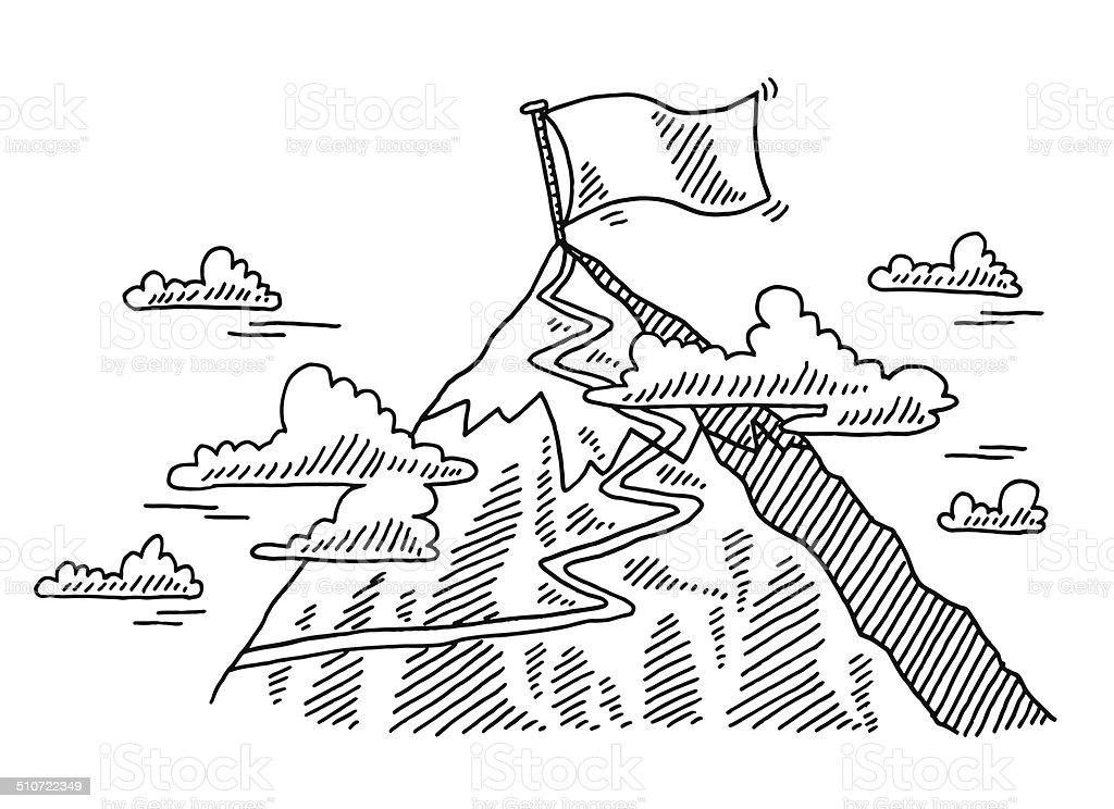 Cima Montagna Disegno Da Colorare