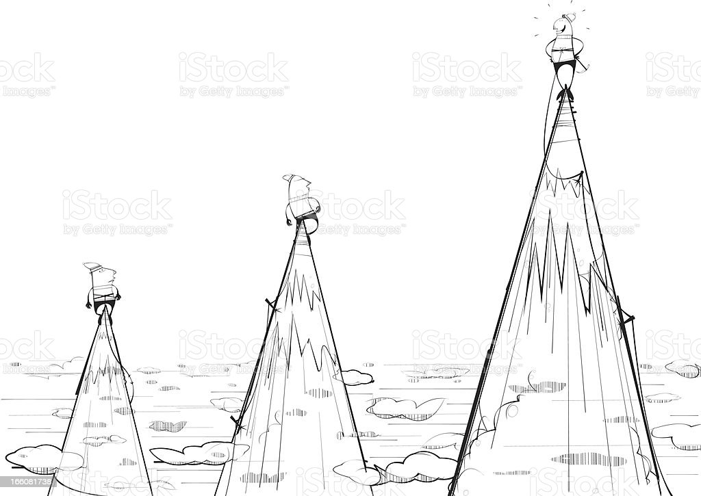Mountain Tops royalty-free stock vector art