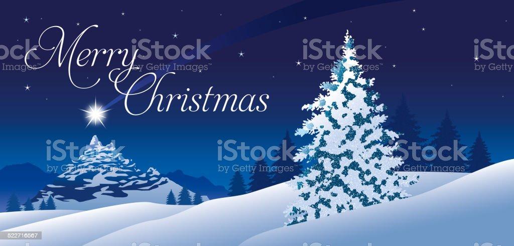 Immagini Di Natale In Montagna.Albero Di Natale Di Montagna Immagini Vettoriali Stock E