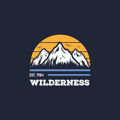 Mountain vector badge