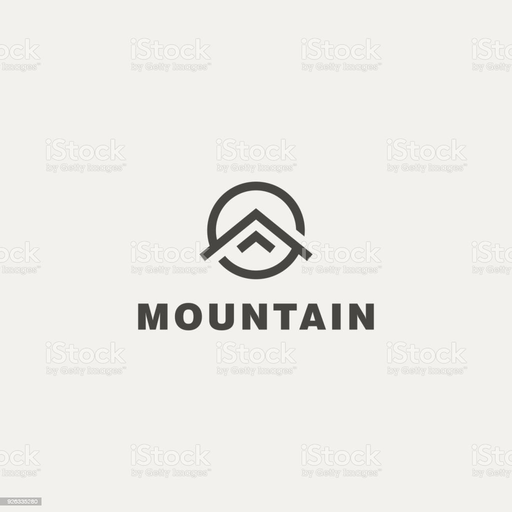 Montaña. Plantilla de Vector icono - ilustración de arte vectorial
