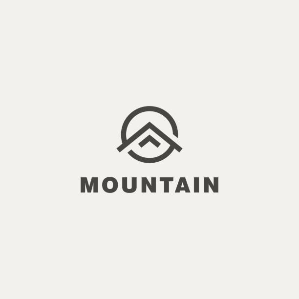 mountain. vector icon template - logo stock illustrations, clip art, cartoons, & icons