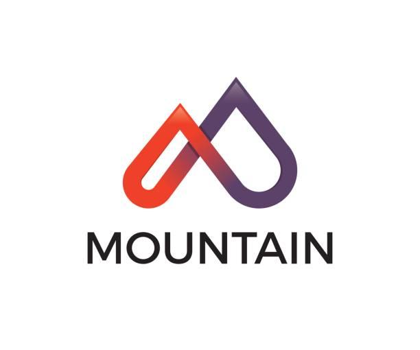 bildbanksillustrationer, clip art samt tecknat material och ikoner med mountain vektor symbol - aktiva pensionärer utflykt