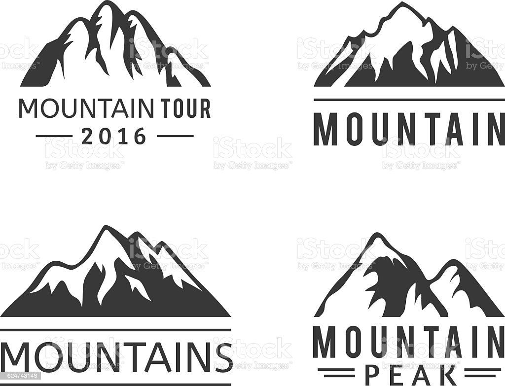 mountain vector icons set stock vector art more images of abstract rh istockphoto com mountain vector art mountain vector free