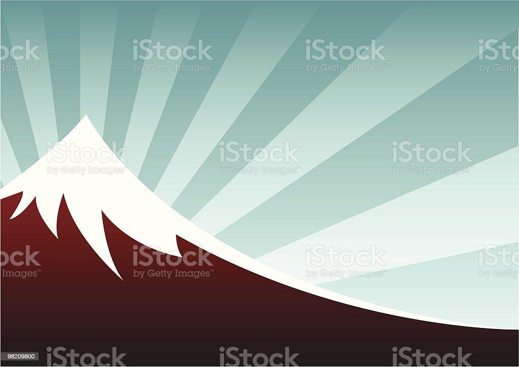mountain royalty-free stock vector art