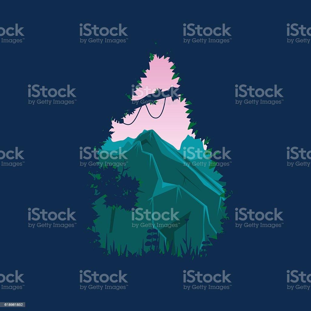 Mountain Vector illustration vector art illustration