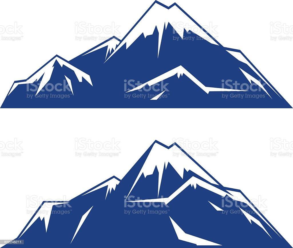Mountain Vector Logo vector art illustration