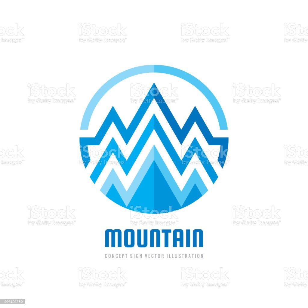 Vetores De Montanha Ilustração Em Vetor Sinal Modelo