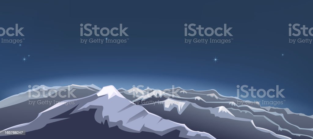 mountain view royalty-free stock vector art