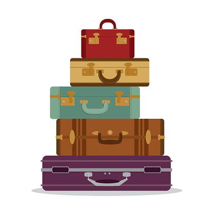 Mountain vintage suitcases