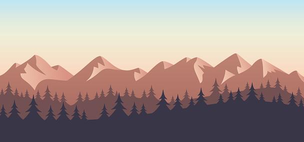 Mountain Wilderness Landscape Background