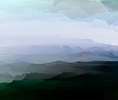 mountain with fog color gradient landscape pattern background