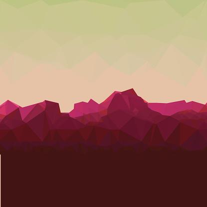 Mountainous terrain, polygonal background, vector illustration.
