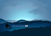 Sunset, Sunrise - Dawn, Mountain, Mountain Range