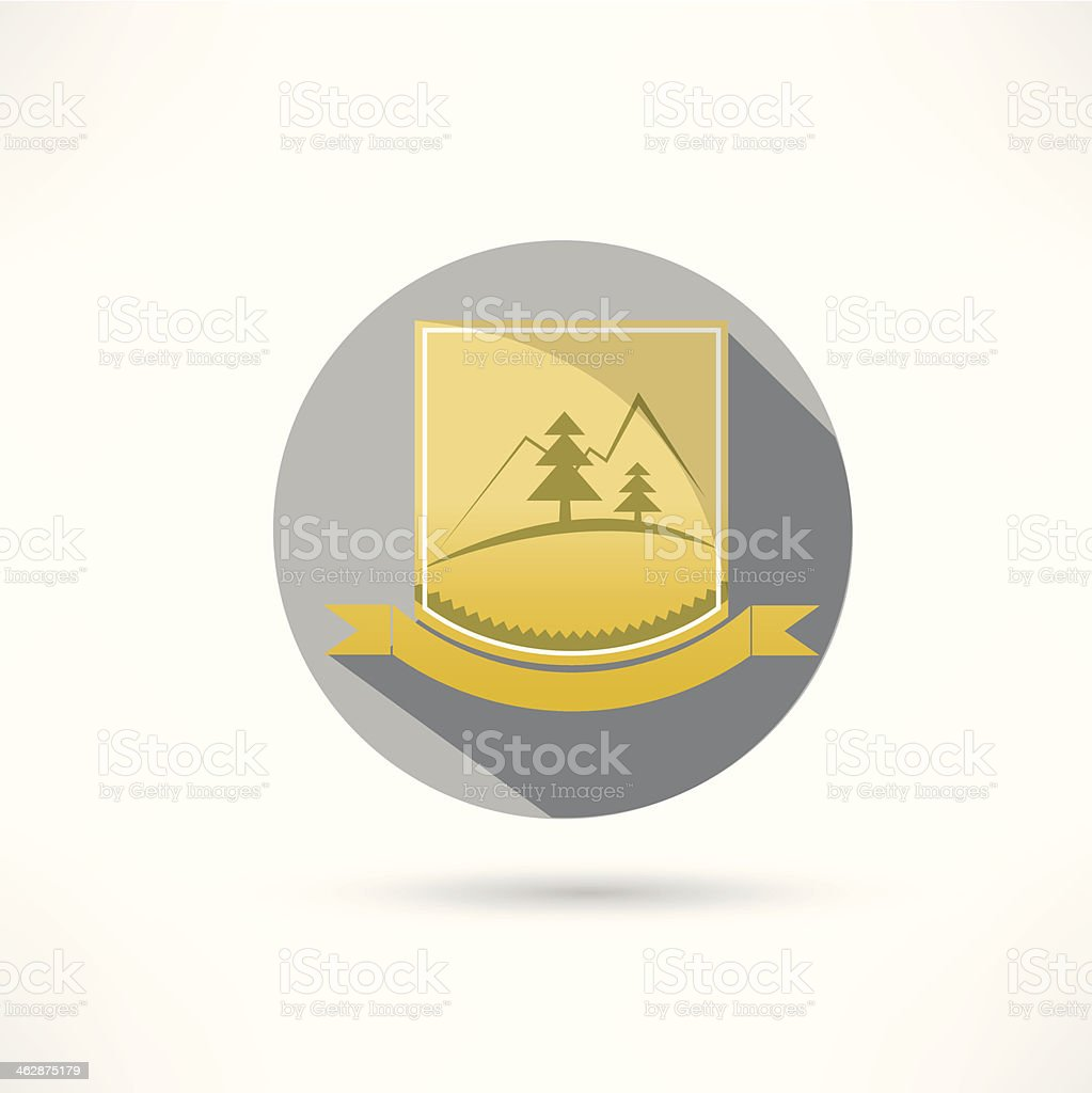 mountains icon royalty-free stock vector art