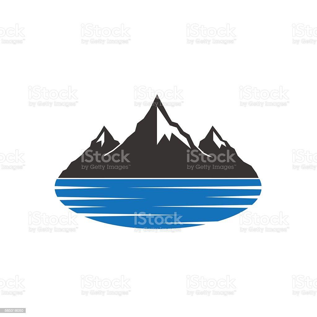 Mountains Lake vector art illustration